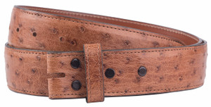 "Full-Quill Ostrich 1 1/2"" Straight Belt Strap - Barnwood 1"