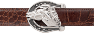 "Jeff Deegan Horsehead 1 1/2"" Trophy Buckle"