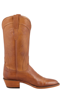 Lucchese Women's Cognac Ranch Hand Boots - Side