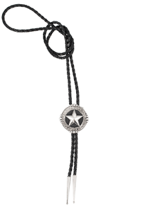 Pinto Ranch Beaded Star Engraved Bolo Tie