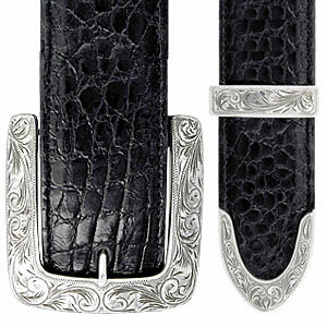 "Horst Schrader - Classic 1 1/2"" Engraved Buckle Set"