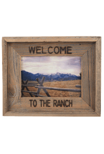 Frame - Welcome to the Ranch Barnwood