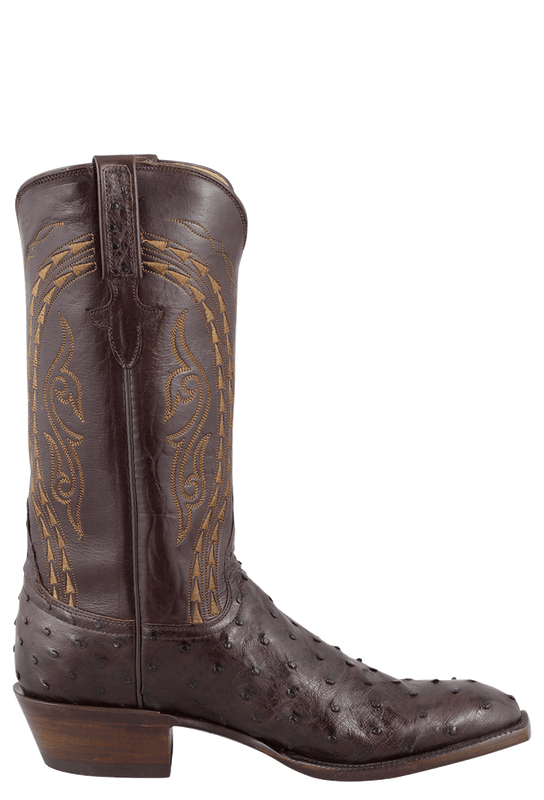 Lucchese Men's Nicotine Full-Quill Ostrich Boots - Side