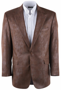 Luggage Brown Microfiber Western Sport Coat - Front