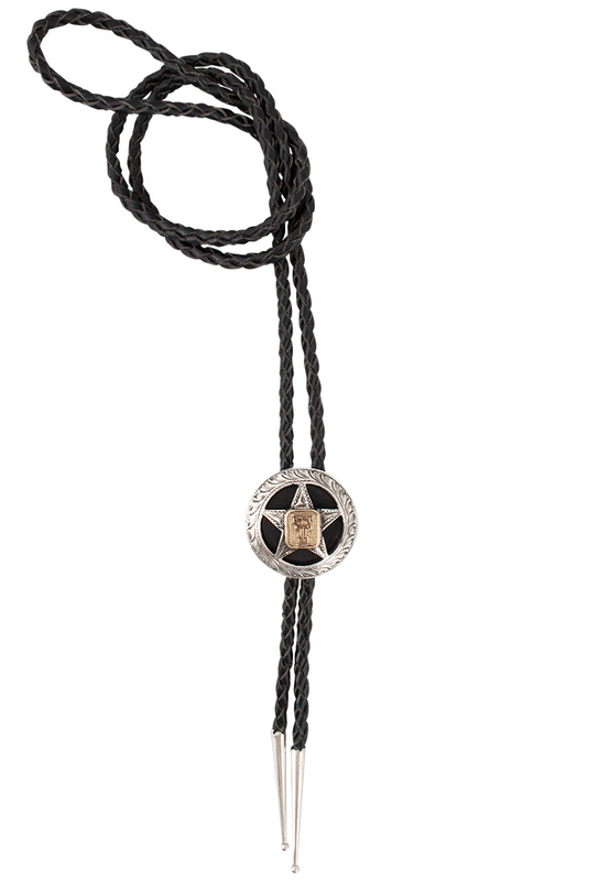 Texas Tech University Gold and Silver Cinco Peso Bolo Tie