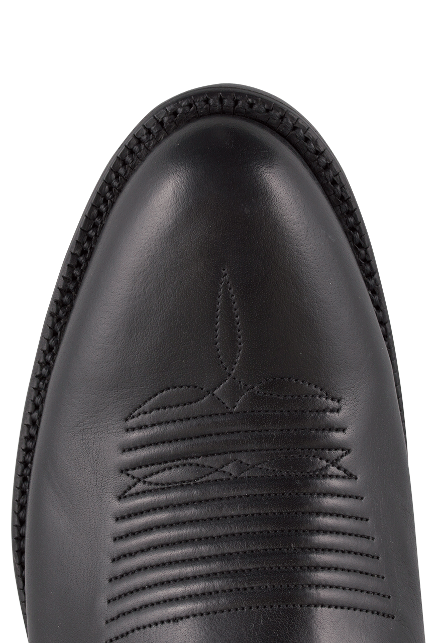 5333295bbe0 Lucchese Men's Black Baby Buffalo Roper Boots