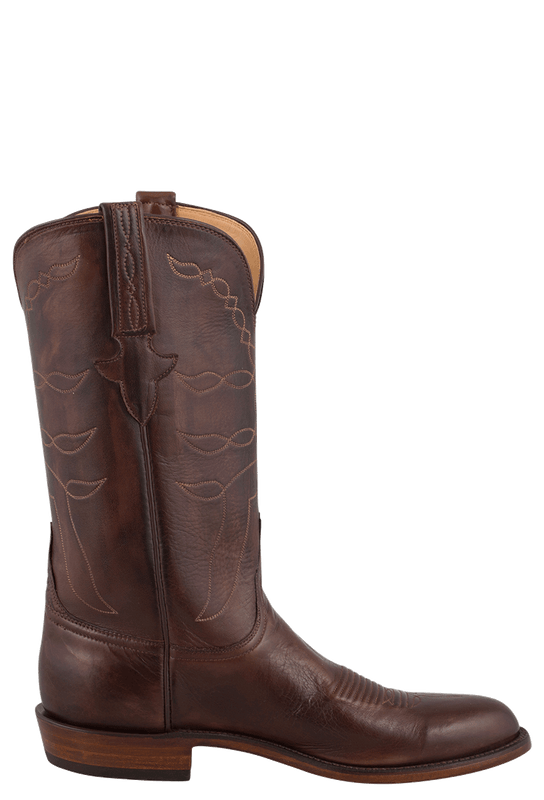 MEN'S LUCCHESE BUFFALO BOOTS IN WHISKEY BROWN