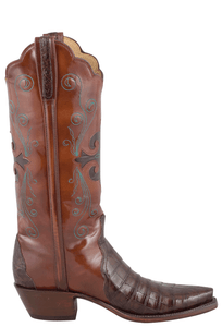 Lucchese Women's Sienna Ultra Caiman Crocodile Triad Boots - Side