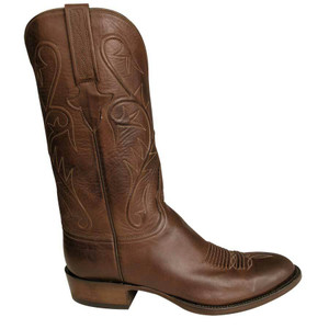 Lucchese Mens Burnished Ranch Hand Boots with Fowler Toe - Tan  - Side