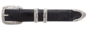 "Horst Schrader - Double Keeper 1"" Engraved Buckle Set"