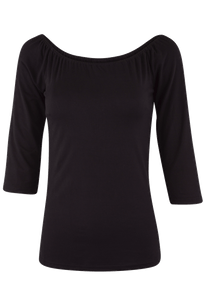 Vintage Collection Ballet Top - Black - Front