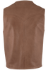 Scully Lambskin Vest - Antique Brown - Back