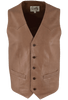 Scully Lambskin Vest - Antique Brown - Front