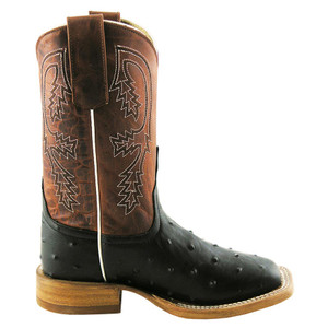 Anderson Bean Kids Full-Quill Ostrich Print Boots - Side