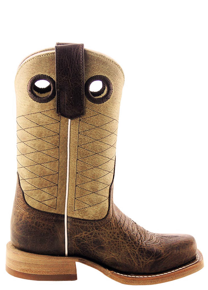 36a8ca54bba Anderson Bean Kids Tan and Brown Pit Bull Boots