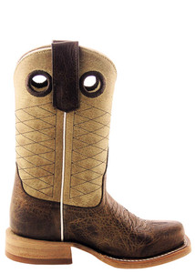 Anderson Bean Kids Tan and Brown Pit Bull Boots - Side