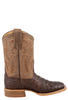 Anderson Bean Kids Chocolate Nile Croc Print Boots - Side