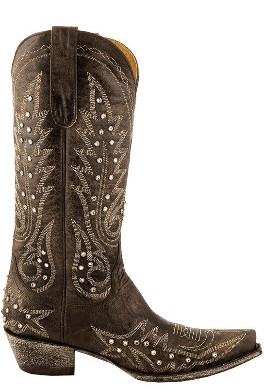 Old Gringo Women S Chocolate Nevada Crystal Boots Pinto Ranch