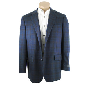 Blue Plaid Wool Western Sport Coat