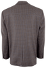 Brown and Blue Check Wool Western Sport Coat - Back