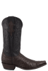 Benchmark by Old Gringo Men's Nicotine and Black Full-Quill Ostrich Tioga Boots - Side