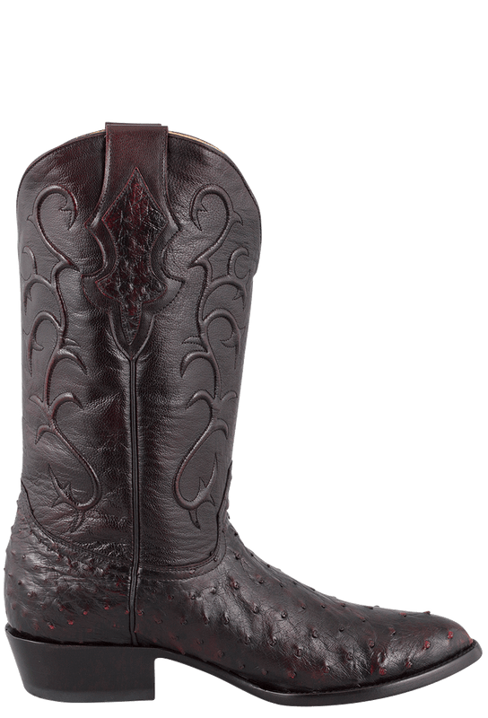 a47fe195d2b Benchmark by Old Gringo Men's Black Cherry Full-Quill Ostrich Tioga Boots