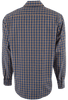 BUGATCHI MOCHA AND BLUE GINGHAM SHIRT-BACK
