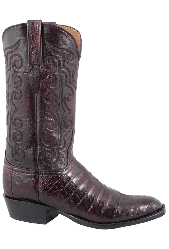 c8c10889003 Lucchese Men's Black Cherry Ultra Caiman Crocodile Boots