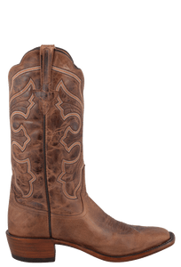 Rios of Mercedes Men's Tan Mad Cat Goat Boots with Square Toe - Side