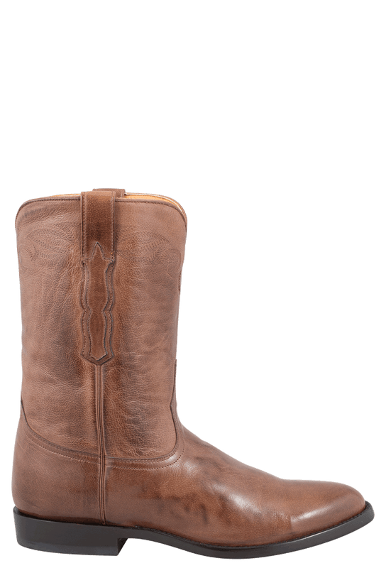 Benchmark by Old Gringo Men's Burnished Brown Calf Indiana Roper Boots  - Side