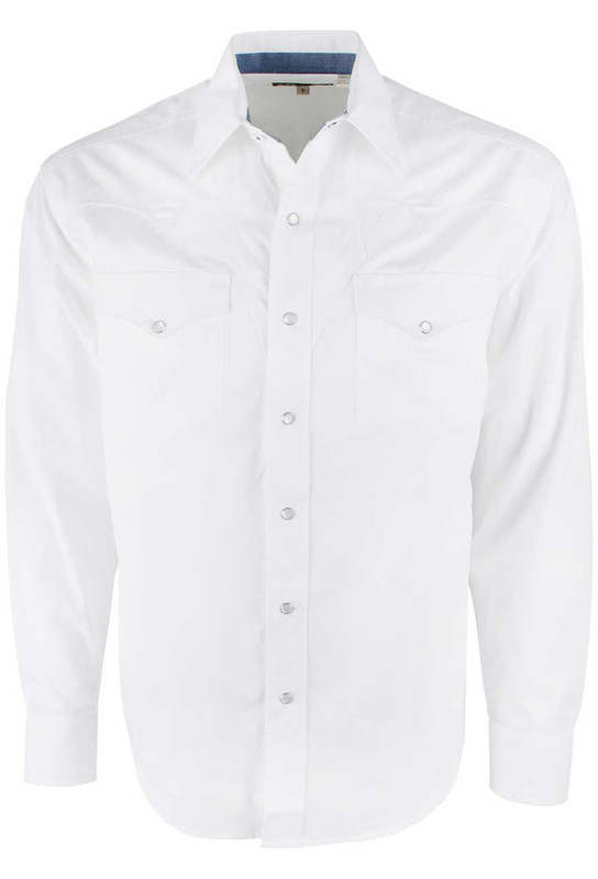 bd517f38218 Stetson Optic White Long Sleeve Snap Shirt - Pinto Ranch