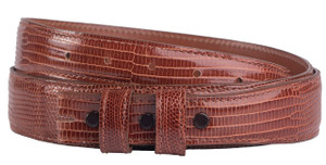 "Lizard 1 1/4 - 1"" Tapered Belt Strap - Cognac 1"