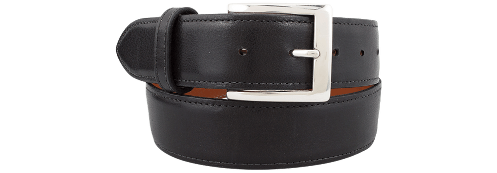 "Spanish Calf 1 1/2"" Straight Belt - Black"