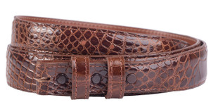 "Alligator 1 1/4 - 1"" Tapered Belt Strap - Cognac 1"
