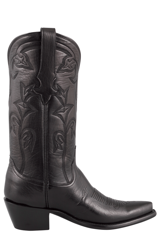STALLION WOMEN'S BLACK BABY BUFFALO BOOTS