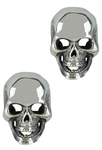 Jeff Deegan Double Skull Silver Cufflinks - Front