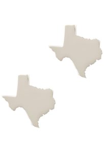 Pinto Ranch State of Texas Silver Cufflinks - Front