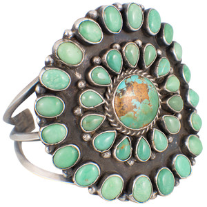 Rocki Gorman Circle of Life Green Turquoise Cuff