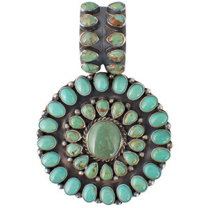 Rocki Gorman Circle of Life Green Turquoise Pendant