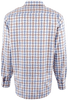 Bugatchi Blue and Sand Basketweave Shirt - Back