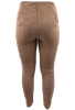 Lysse Faux Suede Leggings - Latte - Back