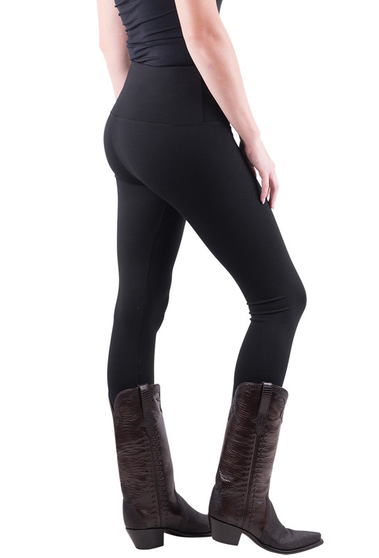 Lysse Center Seam Ponte Leggings - Black