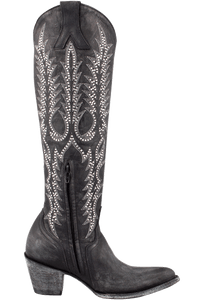 Old Gringo Women's Black Mayra Crystal Vesuvio Boots - Side