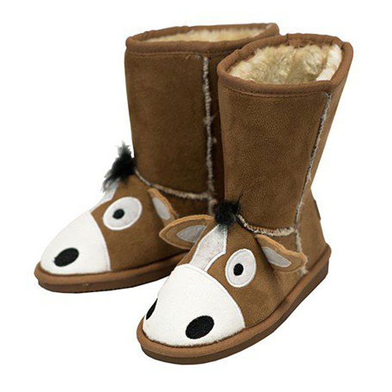 Kids - Toasty Toes Horse Slippers - Pinto Ranch 78a55d91a5d3