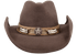 Bullhide Skynard Wool Pinch Front Hat - Chocolate - Front