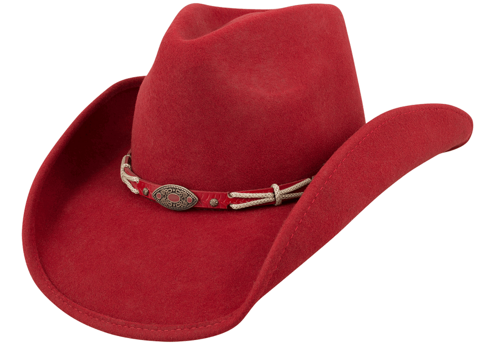 Bullhide Emotionally Charged Wool Hat - Red - Hero