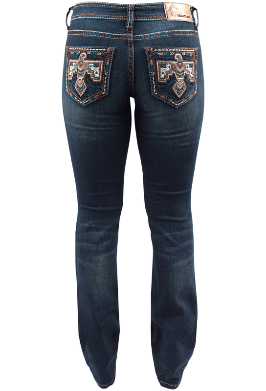 210f2b3e Grace in LA Junior Bootcut Thunderbird Jeans - Pinto Ranch