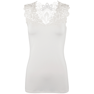 Arianne Reversible Lace Camisole - Cream - Front