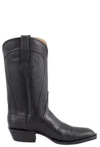 Lucchese Men's Black Ranch Hand Boots - Side