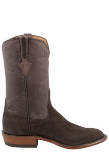 Rios of Mercedes Men's Chocolate Elephant Roper Boots - Side